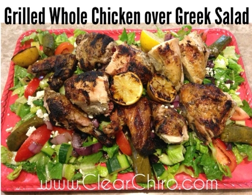 Grilled Chicken over Greek Salad