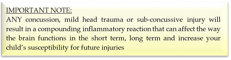 Danger of head injuries